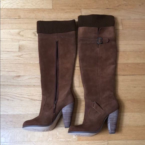 Seychelles high heel brown boots.